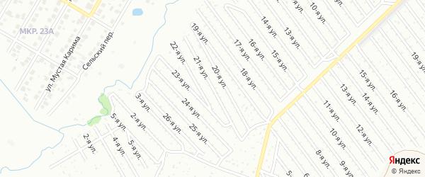 21-я улица на карте СНТ Арлана западной стороны с номерами домов