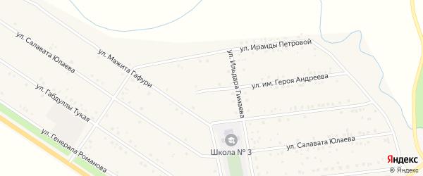 Улица Им Героя Андреева на карте села Бижбуляка с номерами домов