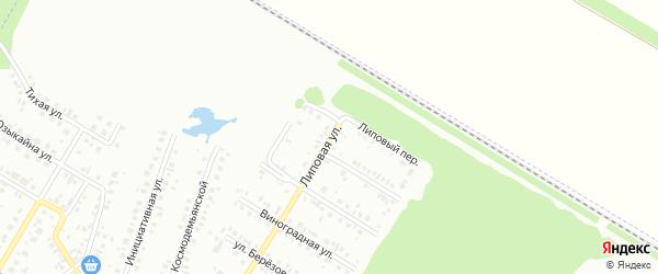 Липовая улица на карте Нефтекамска с номерами домов