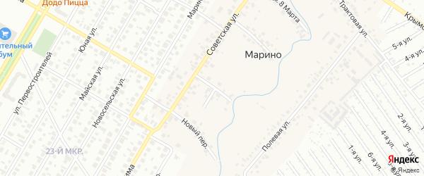 Первомайский переулок на карте деревни Марино с номерами домов