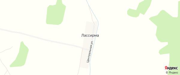 Карта деревни Лассирмы в Башкортостане с улицами и номерами домов