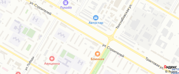 Улица Строителей на карте Нефтекамска с номерами домов