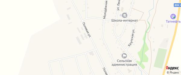 Полевая улица на карте деревни Калтаево с номерами домов
