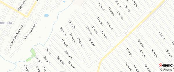 18-я улица на карте СНТ Арлана западной стороны с номерами домов