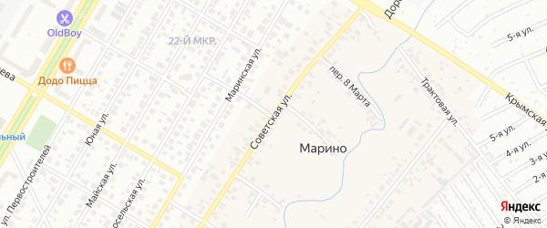 Советская улица на карте деревни Марино с номерами домов