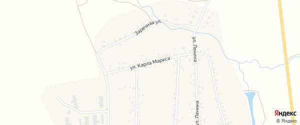 Улица Карла Маркса на карте села Арлана с номерами домов
