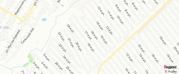 17-я улица на карте СНТ Арлана западной стороны с номерами домов