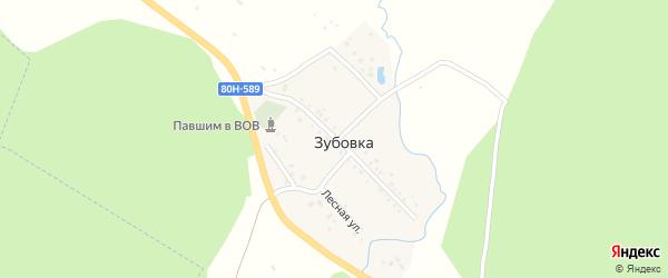 Центральная улица на карте деревни Зубовки с номерами домов