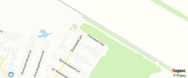 Липовый переулок на карте Нефтекамска с номерами домов