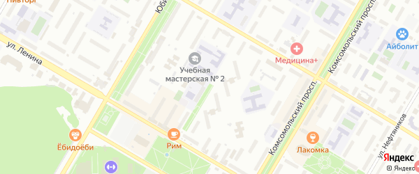 6-я улица на карте СНТ Восхода НГДУ с номерами домов