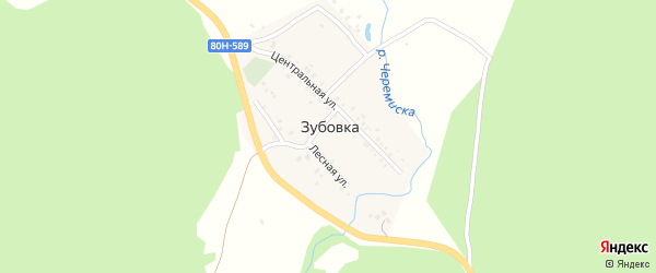 Луговая улица на карте деревни Зубовки с номерами домов