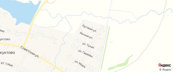 Речная улица на карте села Старокуктово с номерами домов