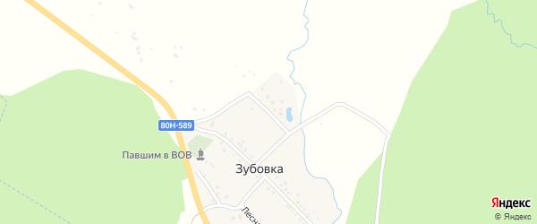 Береговая улица на карте деревни Зубовки с номерами домов