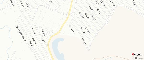 1-я улица на карте СНТ Арлана восточной стороны с номерами домов
