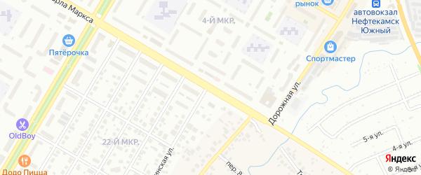 Улица Карла Маркса на карте Нефтекамска с номерами домов