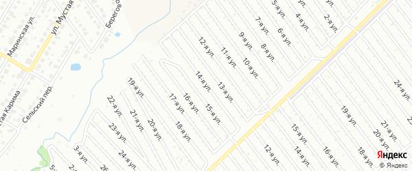 14-я улица на карте СНТ Арлана западной стороны с номерами домов