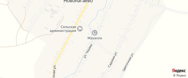 Улица Чишма на карте села Новонагаево с номерами домов