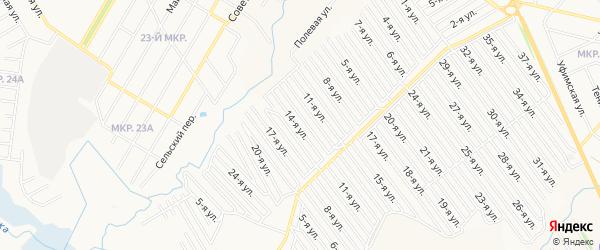 СНТ Арлан западная сторона на карте Нефтекамска с номерами домов