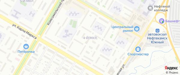 4-я улица на карте СНТ НАТП Южного с номерами домов
