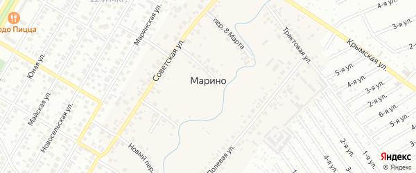 1-й квартал на карте СНТ Дружбы НГДУ ЮАН с номерами домов
