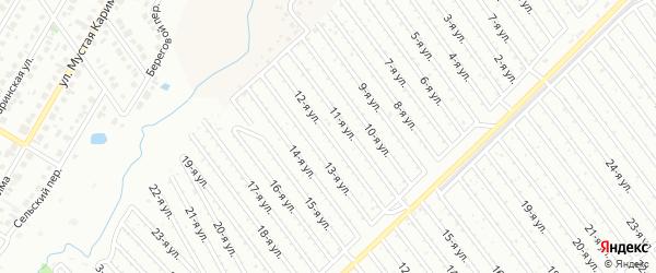 12-я улица на карте СНТ Арлана западной стороны с номерами домов