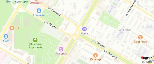 Малый Заречный переулок на карте Нефтекамска с номерами домов