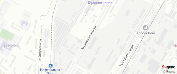 Высоковольтная улица на карте Нефтекамска с номерами домов