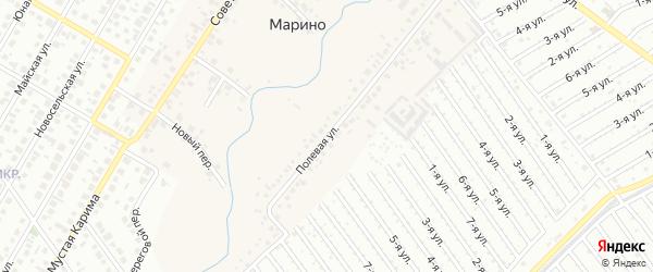 Полевая улица на карте деревни Марино с номерами домов