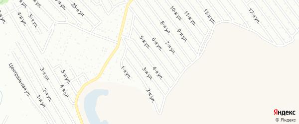 4-я улица на карте СНТ Арлана восточной стороны с номерами домов