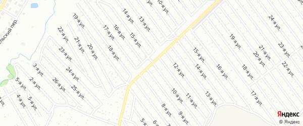 15-я улица на карте СНТ Арлана с номерами домов