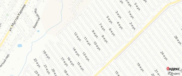 10-я улица на карте СНТ Арлана западной стороны с номерами домов