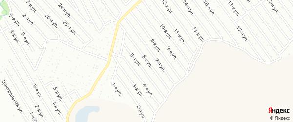 6-я улица на карте СНТ Арлана западной стороны с номерами домов