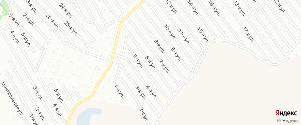 6-я улица на карте СНТ Арлана восточной стороны с номерами домов