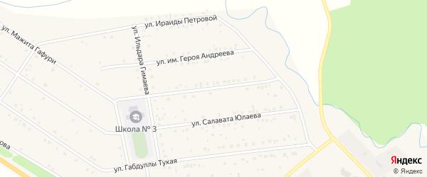 Улица Им Мажита Гафури на карте села Бижбуляка с номерами домов