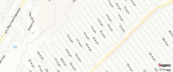 9-я улица на карте СНТ Арлана западной стороны с номерами домов