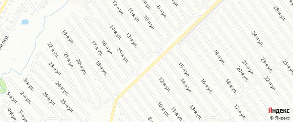 13-я улица на карте СНТ Арлана западной стороны с номерами домов