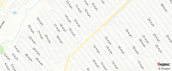 13-я улица на карте СНТ НАТП Южного с номерами домов