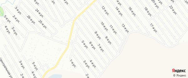 7-я улица на карте СНТ Арлана восточной стороны с номерами домов