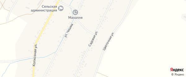 Садовая улица на карте села Новонагаево с номерами домов