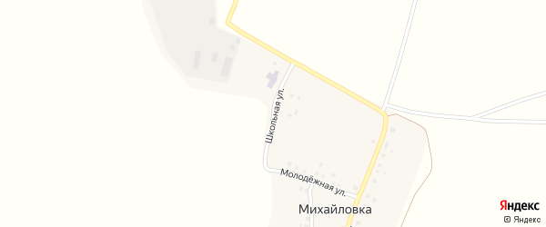 Школьная улица на карте деревни Михайловки с номерами домов