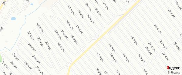 12-я улица на карте СНТ НАТП Южного с номерами домов