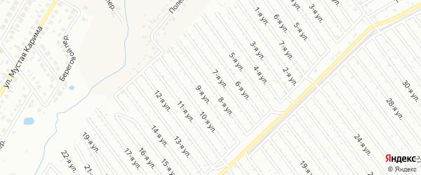 8-я улица на карте СНТ Арлана западной стороны с номерами домов