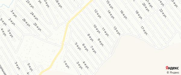 8-я улица на карте СНТ Арлана восточной стороны с номерами домов