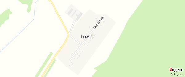 Лесная улица на карте деревни Бахчи с номерами домов