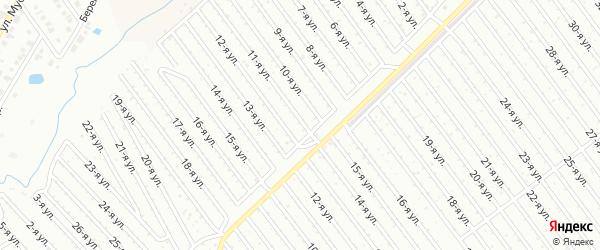 11-я улица на карте СНТ Арлана западной стороны с номерами домов