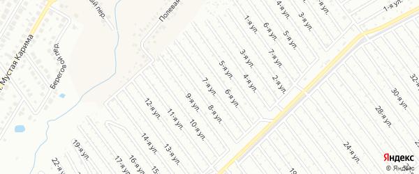 7-я улица на карте СНТ Арлана западной стороны с номерами домов