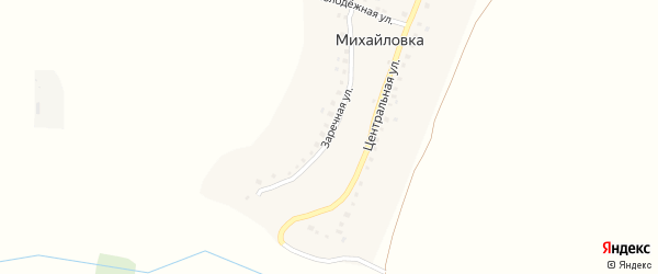 Заречная улица на карте деревни Михайловки с номерами домов