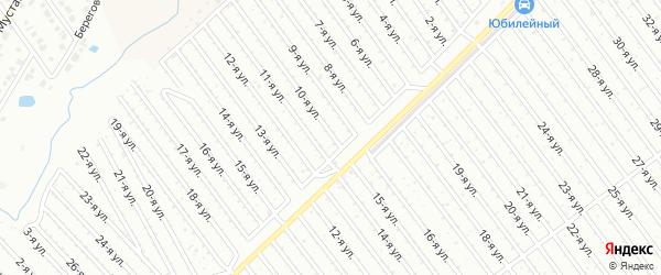 10-я улица на карте СНТ Арлана восточной стороны с номерами домов