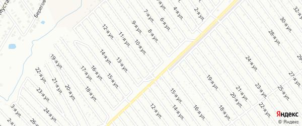 10-я улица на карте СНТ Восхода НГДУ с номерами домов