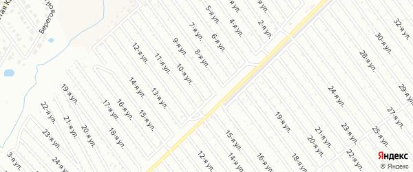 9-я улица на карте СНТ Арлана восточной стороны с номерами домов